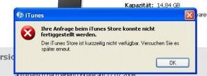 Ipod Touch Aktualisierung fehlgeschlagen