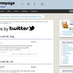 Darstellung der Homepage auf einem Laptop-Bildschirm
